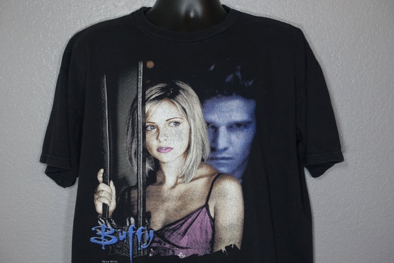 1998 Buffy the Vampire Slayer - Buffy Angel Angs - Double Sided TV Show Vintage T-Shirt