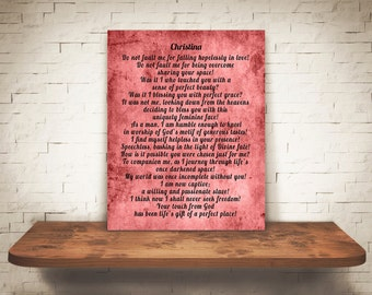Personalized Romantic Love Poem, Shabby Chic Romantic Art Print, Personalized Love Poem Wall Art Gift, Wife Wall Art, Gift From Him To Her
