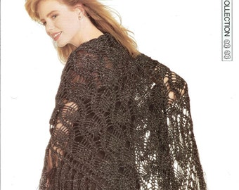 """Crochet pattern - Woman's """"Special Sparkle"""" shawl wrap - Instant download"""