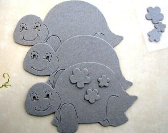 Chipboard Turtles Die Cut Set