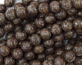 "6mm brown coffee jasper round beads 15.5"" strand 39738"