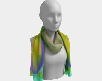 Crop Circle Scarf by Deloresart