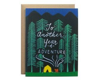 Adventurous Year Card // Wedding Anniversary Card, Birthday Card, Birthday Card for Husband, Birthday Card for Boyfriend, Holiday Card