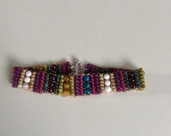 Handwoven Gemstone Bracelet