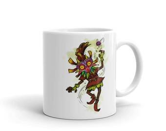 Legend of Zelda Majora's Mask Skull Kid Fan Art Drinking Mug