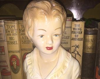 Vintage Chalk Lady's Bust