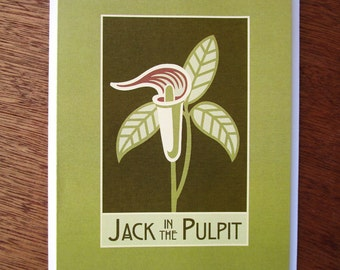 Jack in the Pulpit Note Card