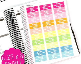 LS259 Summer Home MDN Headers!  Set of 60 Perfect for the Erin Condren Planner!!!