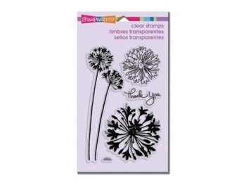Stampendous AGAPANTHUS THANKS clear acrylic stamp set dandelion wispy 1 - CS062
