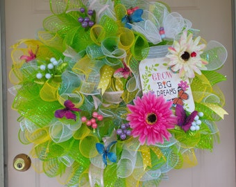 Colorful Spring/Summer Wreath