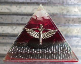 Audranite Red Winged Isis Pyramid