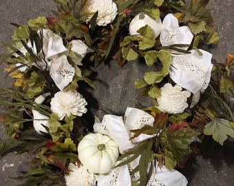 Fall Wreath | Fall Door Wreath | Front Door Wreath | Front Door Decor | Autumn Wreath | Pumpkin Wreath | Fall Decor - 113AHFW