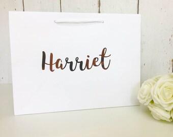 Personalised Gift Bag | Rose Gold Gift Bag |Bridesmaid Gift |Personalised Gift |Personalised Bag |Bridesmaid Bag |Wedding Gift Bag |Gift Bag