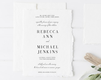 Wedding Invitations, Printable Wedding Invitations, Modern Invitations, Minimalist Wedding Invitations, Traditional Wedding Invitations