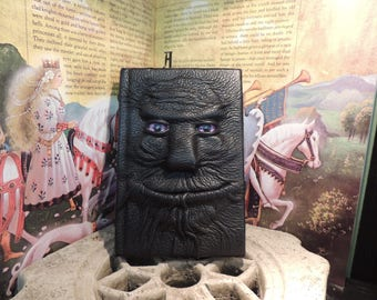 Mythical Beast Book (Purple eyes and Black leather)