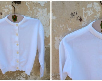 Vintage 1960 /60s French  white sweater /size  2 years