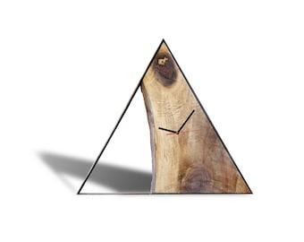 MASON - Black Walnut Live Edge Clock - Minimalistic - Geometric - Modern - BOHO