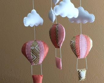 READY TO SHIP- Baby mobile hot air balloon, Hot air balloon mobile