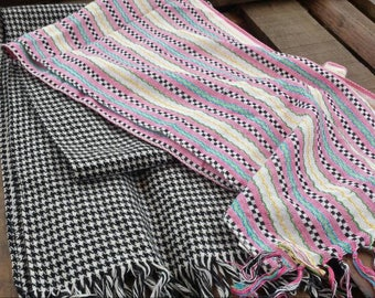 Set of two long scarfs 80's scarfs/vintage scarf/long scarf/80's scarf/two set scarf/gifts for her