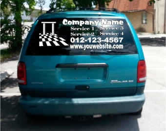 Rear Window Decal Etsy - Truck decals for back window