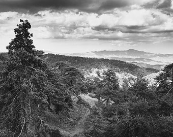 Black and white photography-Original nature photography-Mountain Landscape-Large Print Photo