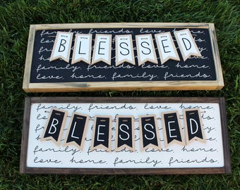 Blessed Banner FARMHOUSE SIGN