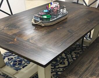 Custom Farmhouse Dining Table - Rustic Dining Table - Family Dining Table