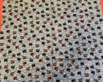 Choo - Choo! soft flannel baby blanket