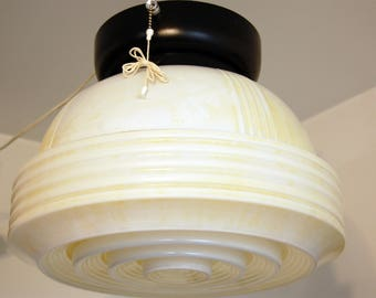 Art Deco Antique Ceiling Light Ice Cream Parlor 1940s