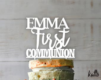 Customizable First Communion cake topper- Personalized  First Communion Cake Topper-  First Communion-   First Communion cake topper