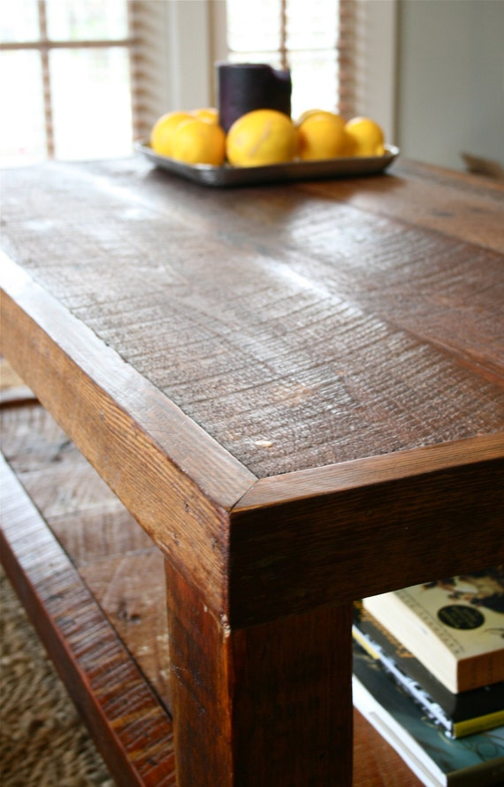 Amazing Oversized Coffee Table Made From New Orleans Barge Board And Reclaimed Wood