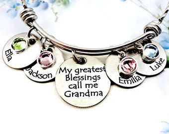 Grandma Necklace My Greatest Blessings Call Me Grandma Bracelet - Blessings Call Me Grandma Necklace Blessings Bracelet - Blessings Necklace