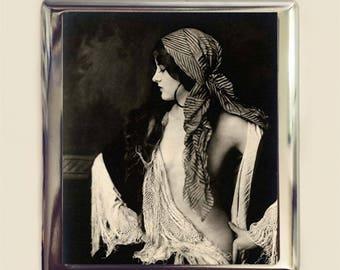 Art Deco Gypsy Cigarette Case Business Card ID Holder Wallet Flapper Art Nouveau Follies Boho Bohemian French Jazz Age 1920s