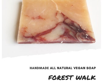 Forest Walk Handmade Soap Bar,  Exfoliating Soap Bar, All Natural Soap, Handmade Soap, Unscented Soap, Cold Process Soap, Vegan Soap