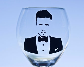 Justin Timberlake Vinyl Wine Glass