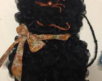 Black Cat Halloween 2piece Wreath