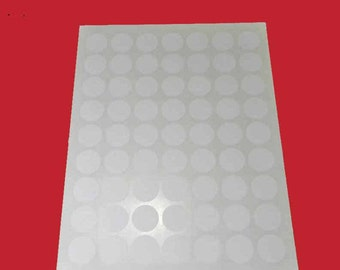 "5 Sheets 1"" Round White Labels. 5 Sheets 1"" Round Stickers Blank. 5397"