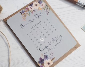 Floral Bleu Save the Date - SAMPLE