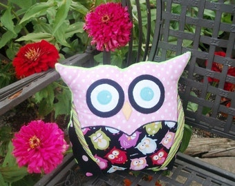 Owl Sewing Pattern - PDF Sewing Pattern Patchwork Owls - Owl Pattern - Owl Pillow- Tutorial - DIY
