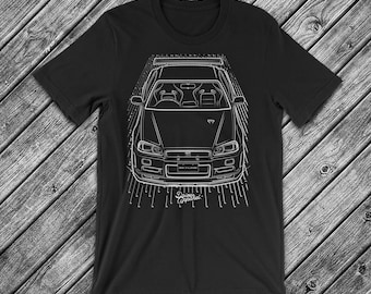 JDM Nissan Skyline GTR R34 T Shirt