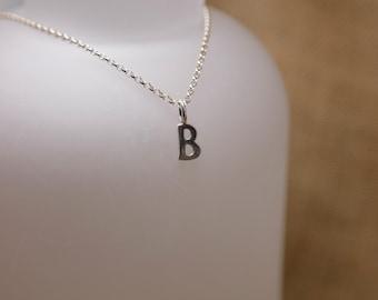 Initial Letter Keepsake Sterling Silver Necklace