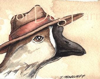 Gander in a hat -