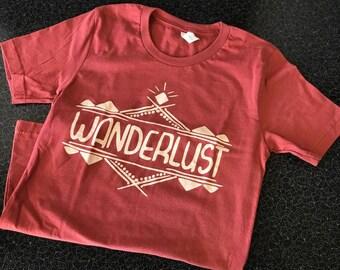 Wanderlust, Hippie Tee, Travel, Wander, Gypsy Soul, Cute T-Shirt, Soft Tee, top