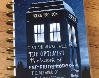 Front and Back Cover Set Dr Who Tardis Inspired for use with Happy Planner Create 365 *me and my BIG ideas*