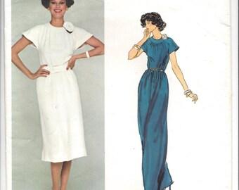 1970s Vogue #1318, Vogue Paris Original Nina Ricci, Misses' Evening Dress in Two Lengths, UNCUT Sewing Pattern, Size 12 Bust 34