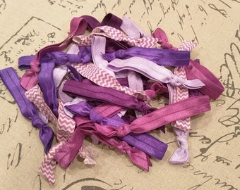 20 Emi Jay Inspired Shades of Purple Hair Ties! Solids and Chevron!