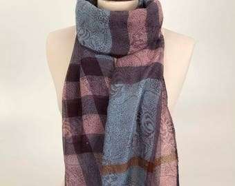 Cozy Scarf, Checker Scarf, Plaid Scarf, Square Scarf, Floral Scarf, Fashion Scarf, Soft Scarf, Holiday Gift, for Mom, for Girl, Women Scarf