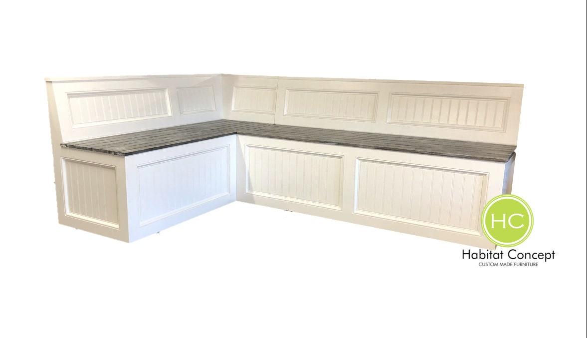 Banquette,Corner Bench,kitchen Seating,L Shaped Bench,breakfast Nook, Kitchen  Nook,bench With Backrest