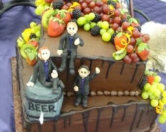 Groom Cake Topper,Custom wedding cake topper, Bride and groom cake topper, personalized cake topper, Mr and Mrs cake topper