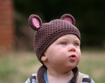 Cuddle Me Teddy Bear Hat Pattern for Crochet INSTANT DOWNLOAD